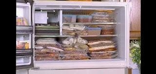 Derin dondurucuda yiyecekleri saklama