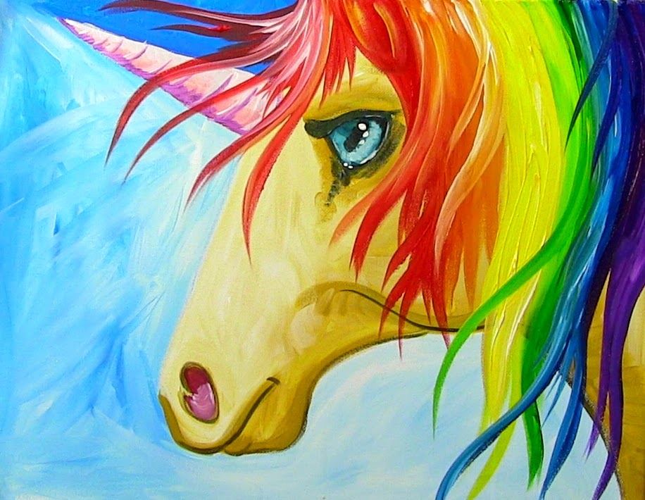 Easy How To Paint A Rainbow Unicorn Step By For The Kid In All Of Us
