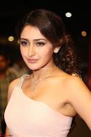 Sayesha Spicy Half Shoulder Cream Gown at Zee Telugu Apsara Awards 2017 10.JPG