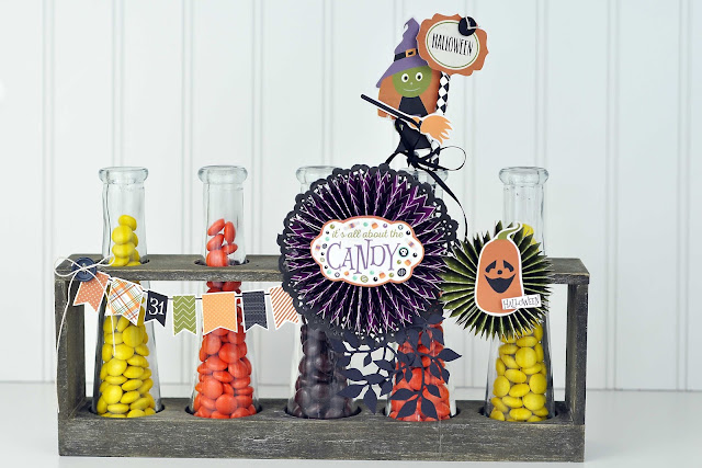 Halloween Candy Beekers from www.jengallacher.com. #halloween #papercraft #candyjar