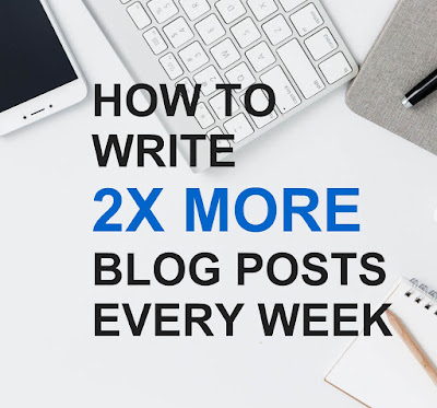 publish more blog posts every week