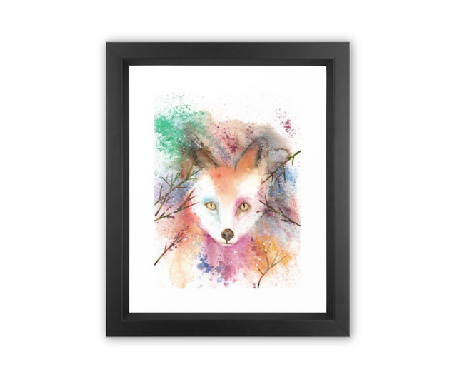 Watercolor Red Fox