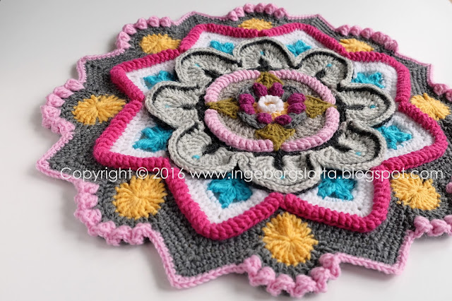 Mandala madness CAL 2016 part 3 crochet
