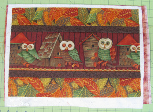 pieced owl place mat