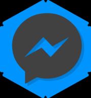 messenger hexagon icon