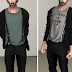 T-shirt with Suspenders + Cardigan