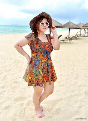 Vestidos de playa para gorditas