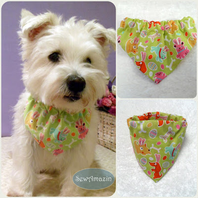 Easter Puppies Dog Bandanas