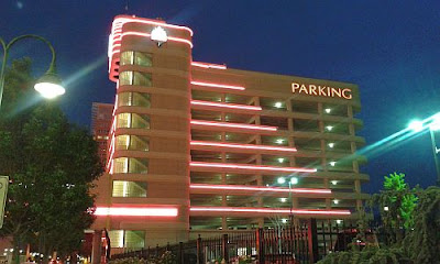 Eldorado Reno at night, parking garage