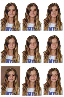 Fotos tamaño carnet en una foto de 10x15
