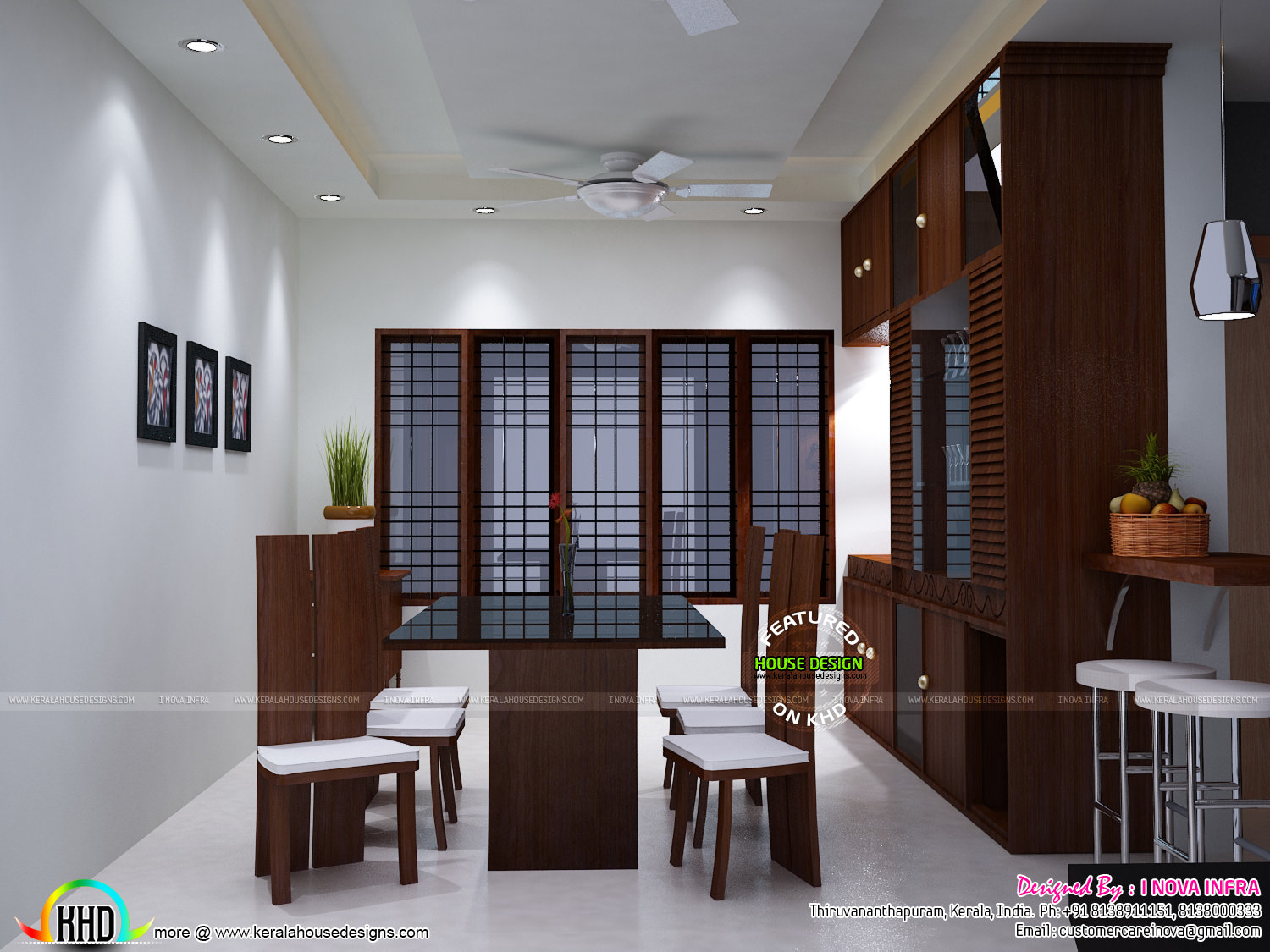 Kerala traditional interiors kerala home design and for Kerala interior designs
