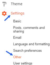 backup blogger posts