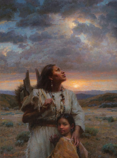 "by Morgan Weistling, ""Sky People"" - oil 