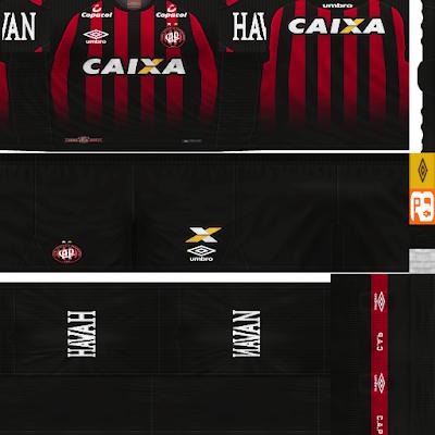 PES 6 Kits Atlético Paranaense Season 2017/2018 by Rodry90 Kitmaker