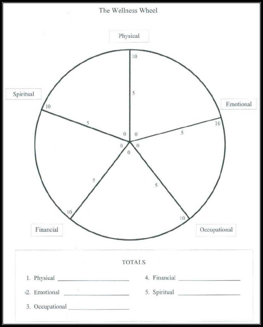 worksheet. Wellness Wheel Worksheet. Worksheet Fun
