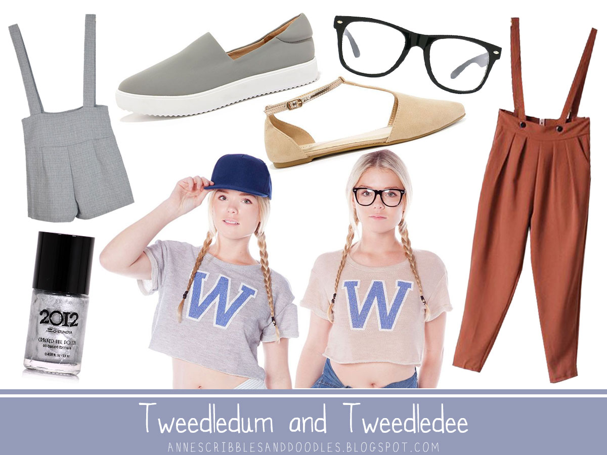 Tweedledum and Tweedledee | Alice in Wonderland Character Inspired Outfits