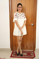 Lavanya Tripathi in Summer Style Spicy Short White Dress at her Interview  Exclusive 269.JPG