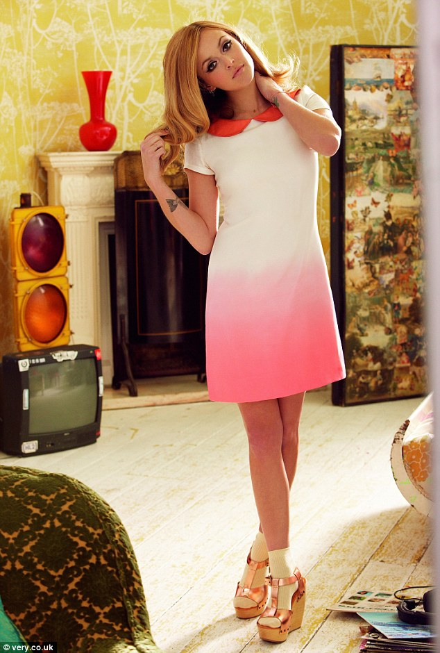 7371453a73 Fearne Cotton. I loved the long sleeved Prada Peter Pan collar dress ...