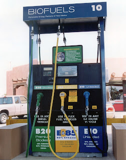 Photo of an E85 pump (Credit: Department of Energy) Click to Enlarge.