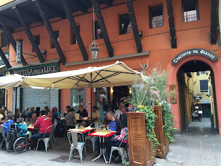 Bologna Italy outdoor dining