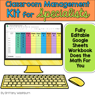 Get your whole Specials Team on board with using the same classroom management system. This kit includes a customizable Google Sheet workbook that tracks the data digitally plus all of the printable forms you need to make it a comprehensive program.