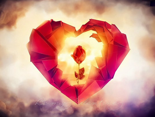 Fire Heart Valentine's day Images