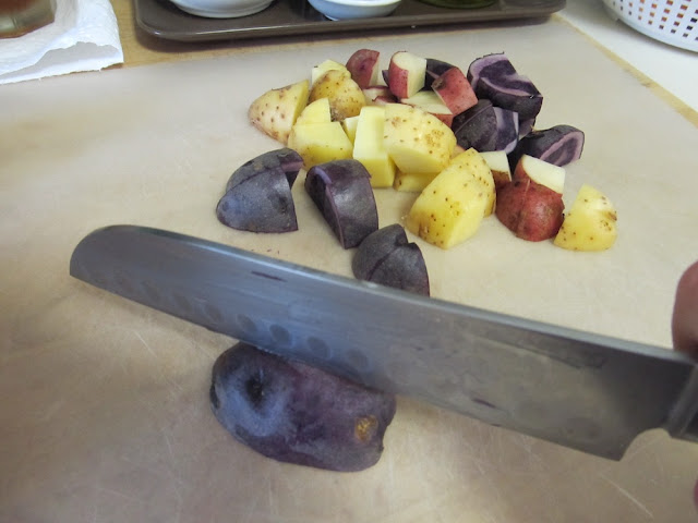 Red, White and Blue Potatoes for Potato Salad