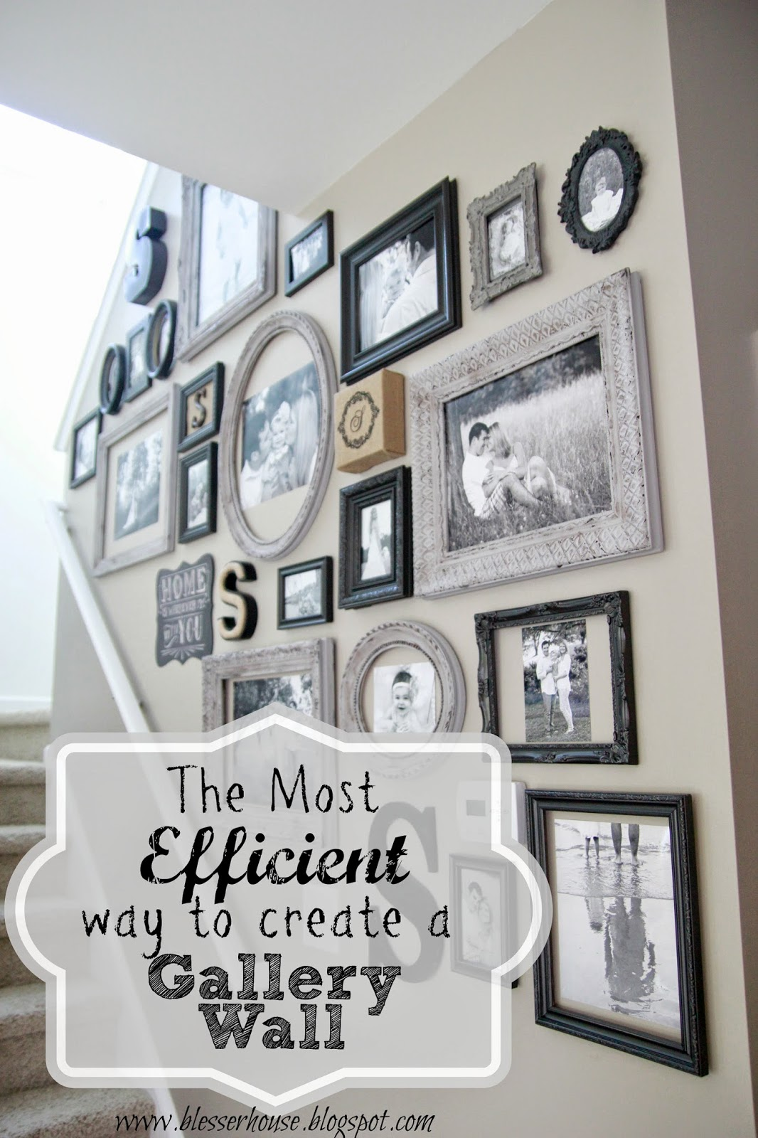 The most efficient way to create a gallery wall bless 39 er for Picture wall layout
