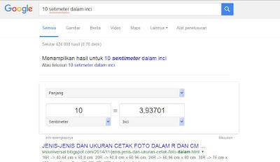 Hal Menarik yang Bisa Di lakukan Google Search - menconversi Ukuran