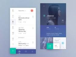 Calendar and Profile UI Design Inspiration