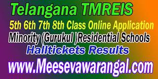 TMREIS Telangana Minority Gurukul Residential Schools 5th 6th 8th Class Online Application Apply