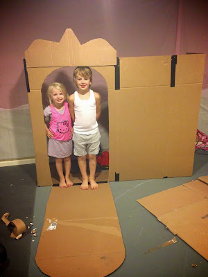Life Sprinkled With Glitter Princess Cardboard Castle