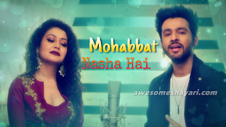 Tony kakkar and Neha Kakkar images, Mohabbat nasha hai lyrics hate story 4