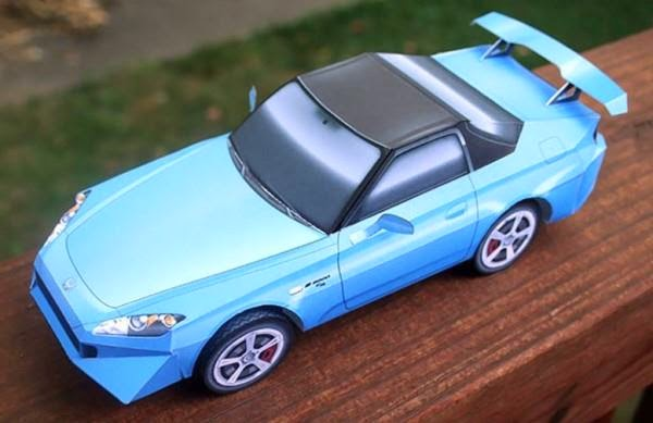 Build Your Honda >> Papermau Build Your Own Honda S2000 Paper Model By Paper