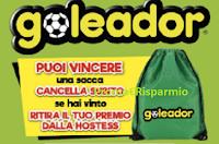 Logo Concorso ''Goleador cancella e vinci'': in palio gratis 6.000 Sacche Goleador