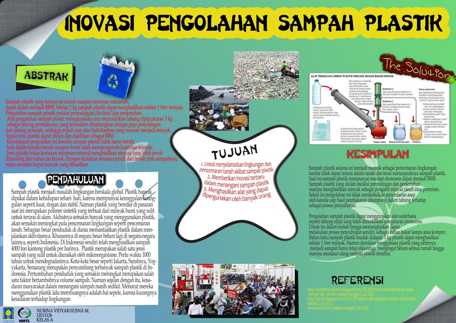 POSTER INOVASI PENGOLAHAN SAMPAH PLASTIK Environmental