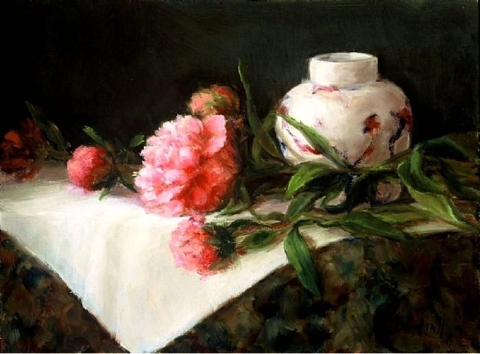 Цветочные картины. Stephanie Birdsall 7