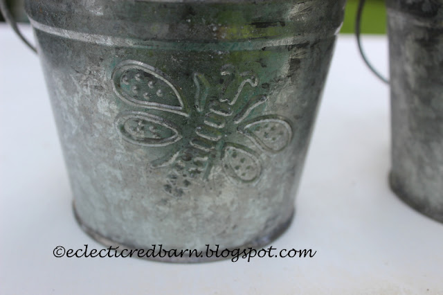 Eclectic Red Barn: Metal Butterfly Pail