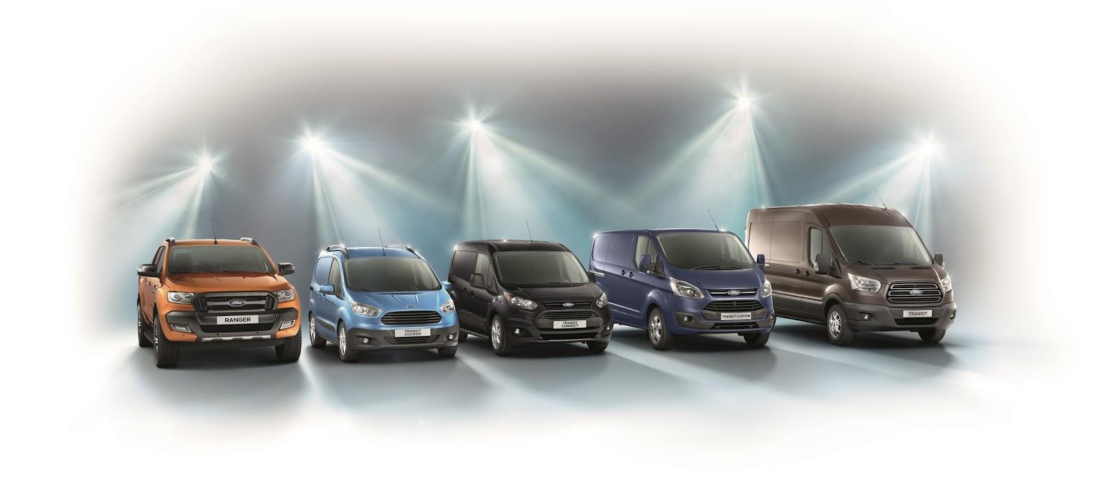 CV range image hi res Ένα νέο Ford Transit αγοράζεται κάθε 180 δευτερόλεπτα, πρωτοστατώντας στην αγορά επαγγελματικών