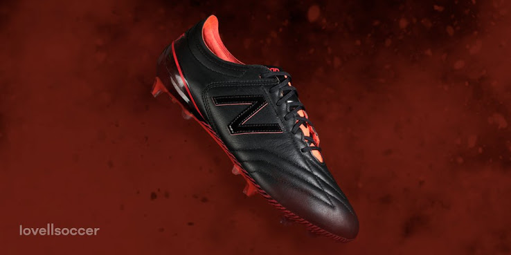 61413b131a5 The launch colorway New Balance Furon 3.0 K-Leather soccer cleat boasts a  modern design in black and Energy Red. Follow us on Instagram. Hide this  banner
