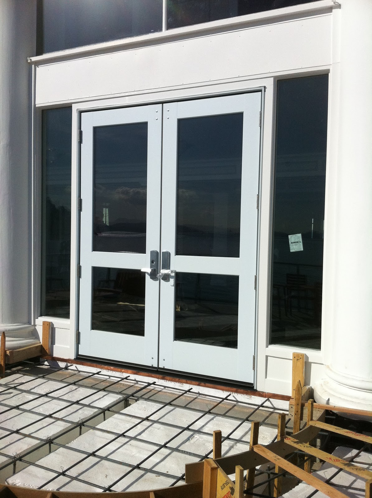 Marvin Commercial Door Installation With Von Duprin
