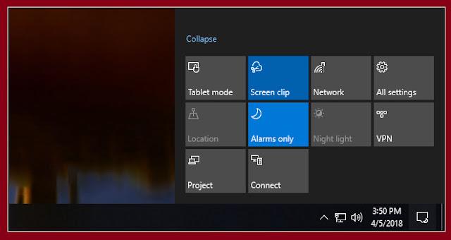 شرح تفعيل ميزة Screen Clip لألتقاط صورة للشاشة بطريقة جديدة فى ويندوز 10