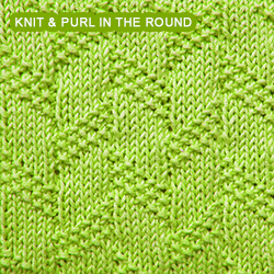 Diagonal Moss Stripe - knitting in the round