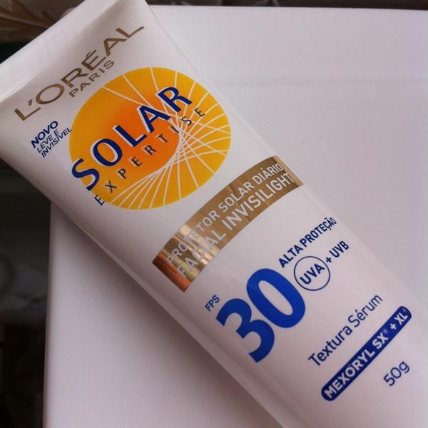 Resenha: Protetor Solar Expertise Invisilight FPS 30 - L´Oréal Paris