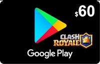 Tarjeta Google Play 60 por PayPal o Mercadopago