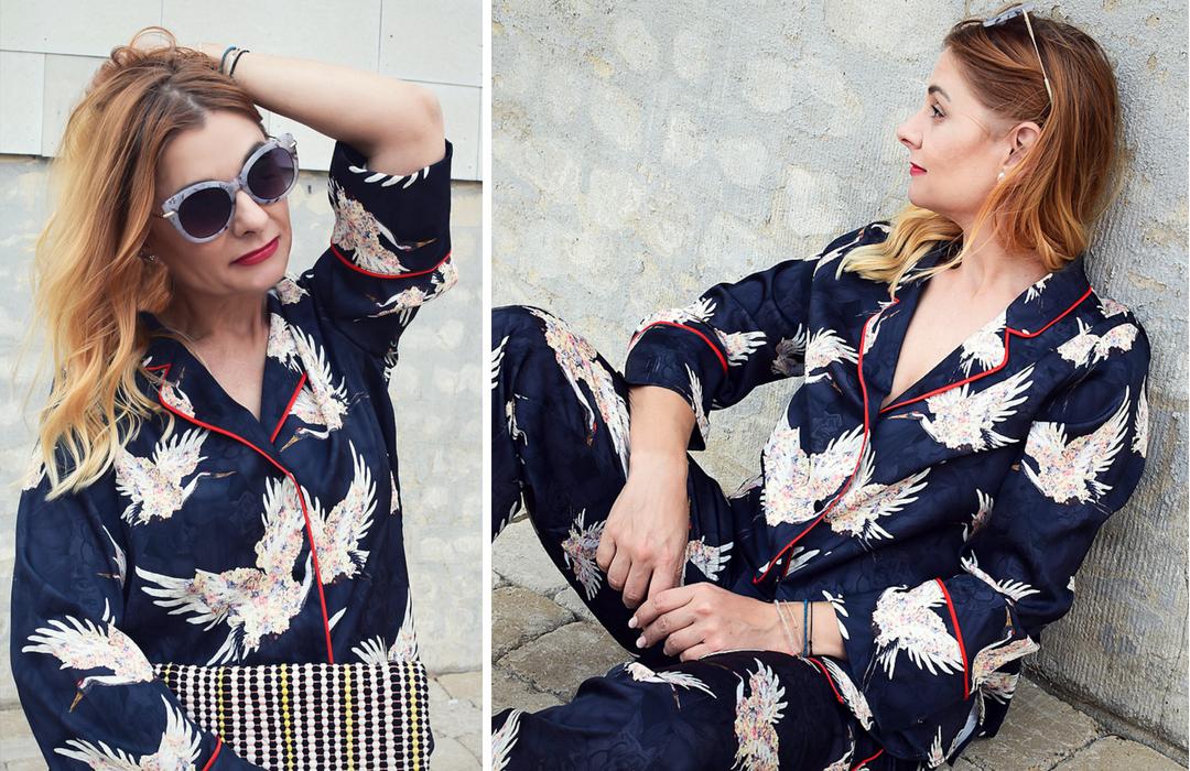 Streetstyle mit Damen Anzug im Pyjama Stil
