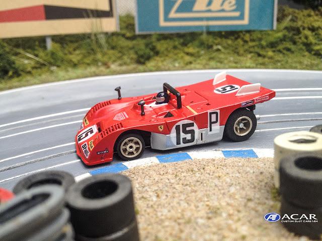 AFX Ferrari 312PB Slot Car 1:64 #15 1000km Nürburgring 1971