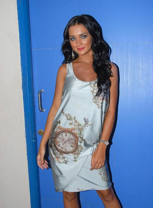 amy jackson in white dress hot images