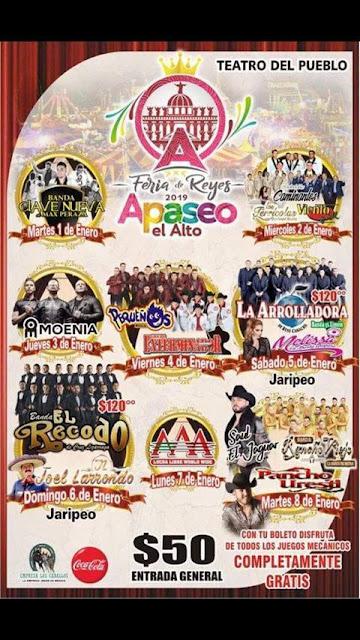 programa feria de reyes apaseo 2019