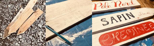 Planche de palette découpée en forme de flèche